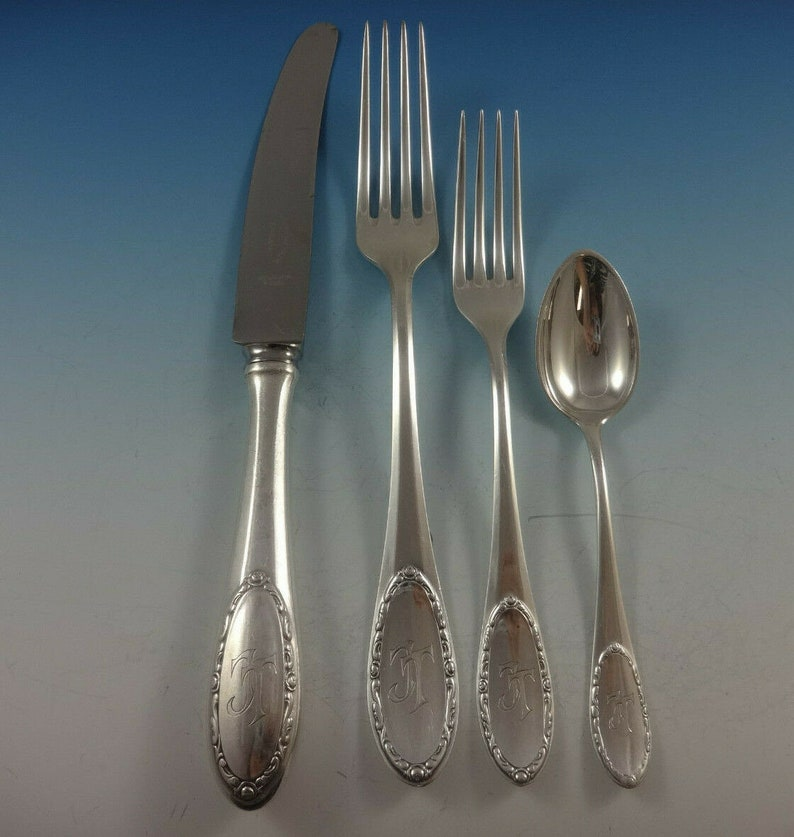 Roses Aka Roschen #86 Par Fremer Silberwarenfabrik Silverplate Flatware Set 70pc