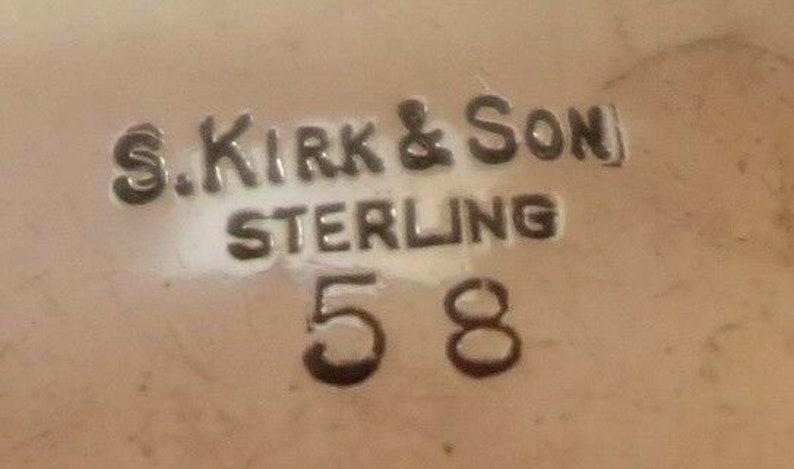Repousse By Kirk Sterling Silver Salt Dip #58 #1990