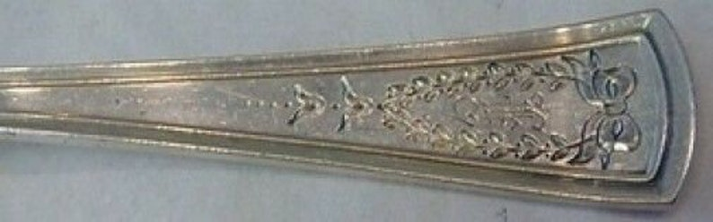 Virginia 19 Eng by Dominick and Haff Sterling Silver Berry Spoon Large 8