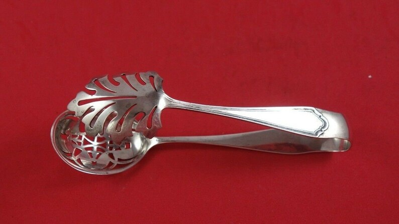 John Alden by Watson Sterling Silver Ice Tong 6 12 Serving