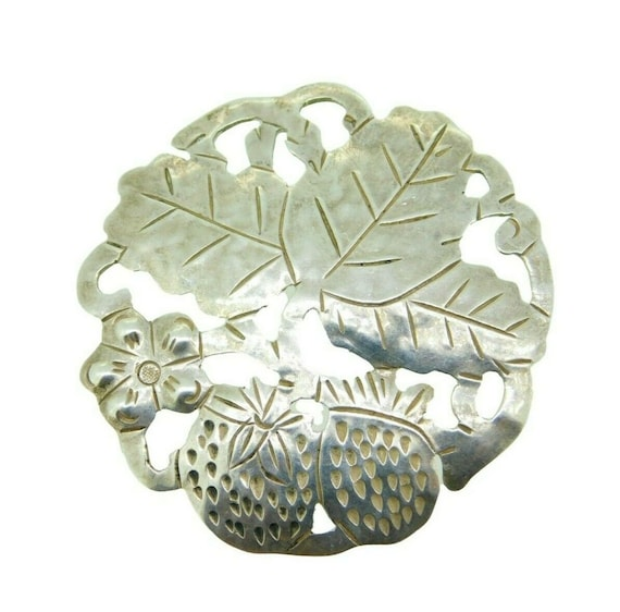 Handwrought Sterling Gregor Panis Strawberry Pin (