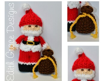 Doll Knitting Pattern - Santa Claus - Knit Doll - Christmas Doll - Toy Knitting Pattern - Christmas Decoration - Doll Making - Sewing - Toy