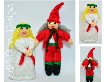 Doll Knitting Pattern - Christmas Elf - St Lucia Doll - Christmas Doll - Knit Doll - Toy Knitting Pattern - Christmas Decoration - Amigurumi