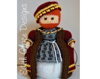 King Henry VIII Teapot Cosy Knitting Pattern