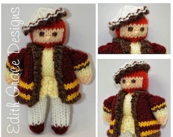 King Henry VIII Doll, Toy Doll Knitting Pattern