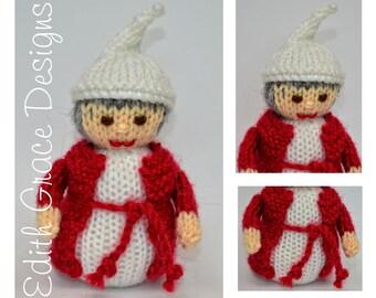 Doll Knitting Pattern - Christmas Doll - Ebenezer Scrooge - Christmas Carol - Charles Dickens - Toy Knitting Pattern - Doll Making - Sewing
