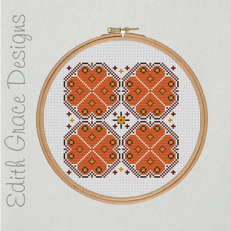 Autumn Geometric Cross Stitch Pattern image 0