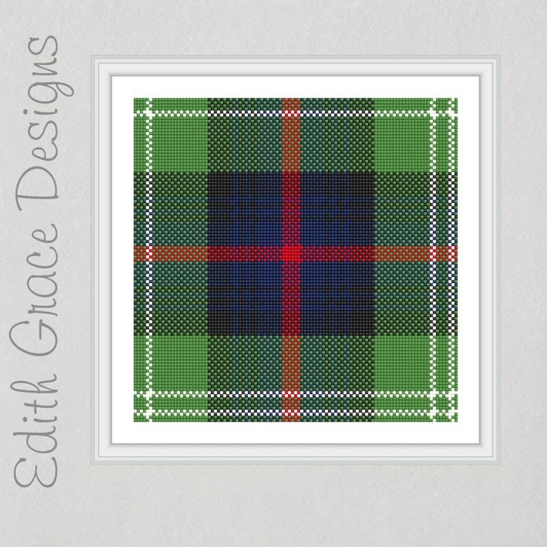 Sutherland Tartan Needlepoint Pattern image 0