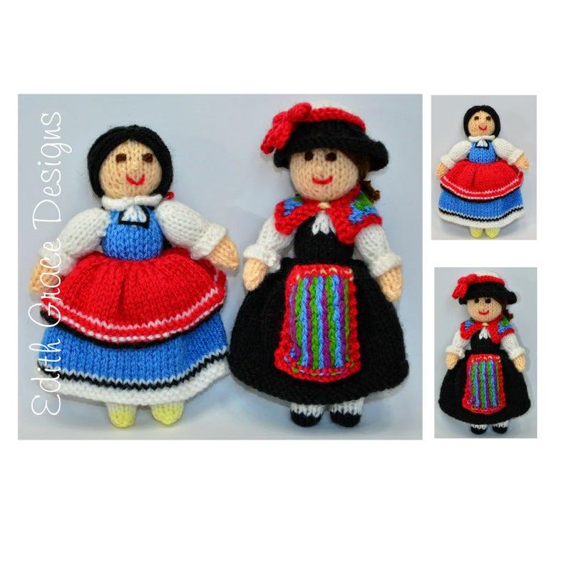 Bulgarian & Swiss Knitted Dolls Pattern image 0