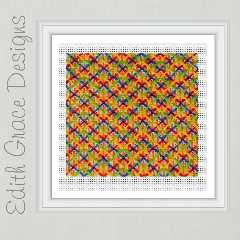 Geometric Needlepoint Pattern image 0