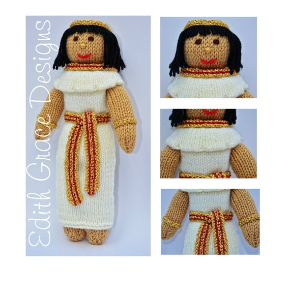 Menet Egyptian Knitted Rag Doll Instant Download Pdf Doll Etsy