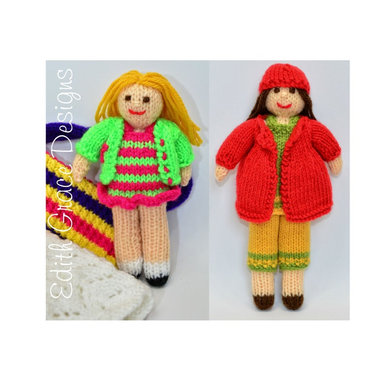 Pocket Dolls Toy Doll Knitting Pattern image 0