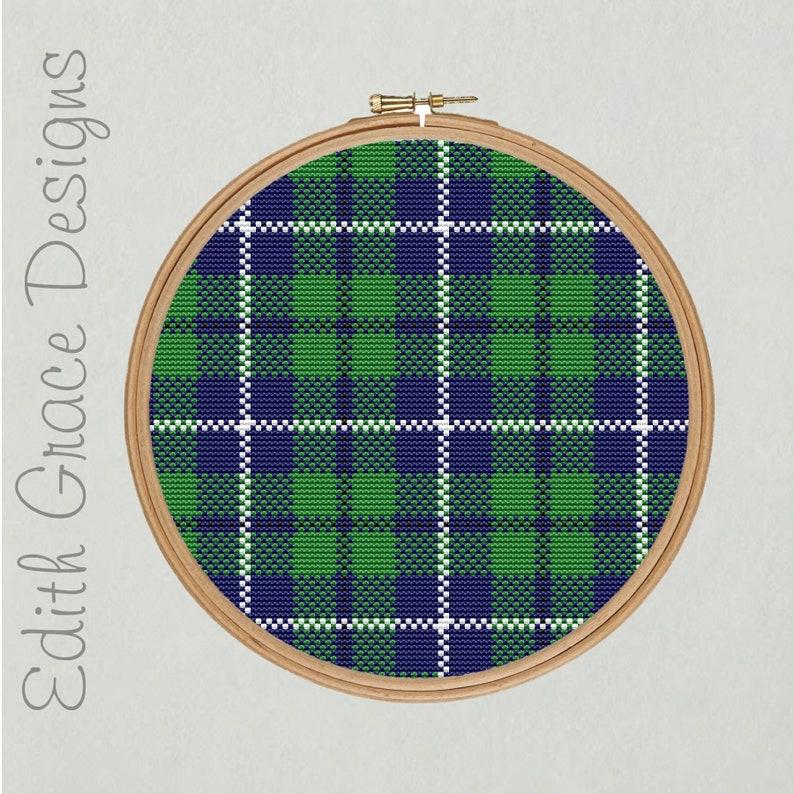 Douglas Tartan Cross Stitch Pattern image 0