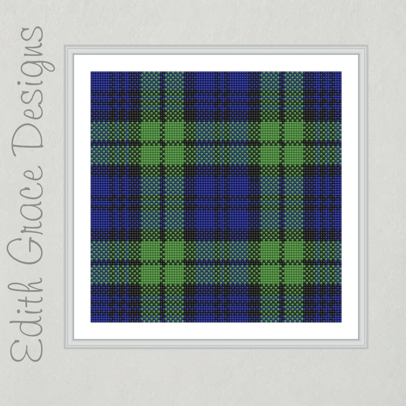 Campbell Tartan Black Watch Tartan Needlepoint Pattern image 0