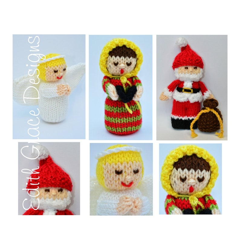 Christmas Knitted Dolls Doll Knitting Pattern image 0