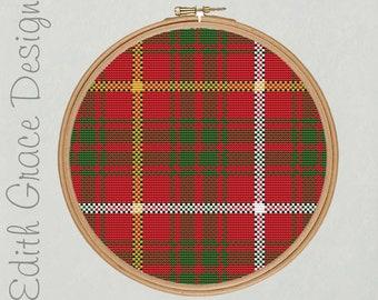 Bruce Tartan Cross Stitch Pattern