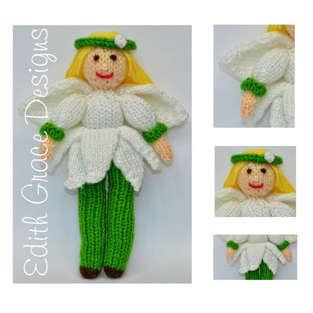 Snowdrop Flower Fairy Doll Instant Download PDF Doll   Etsy