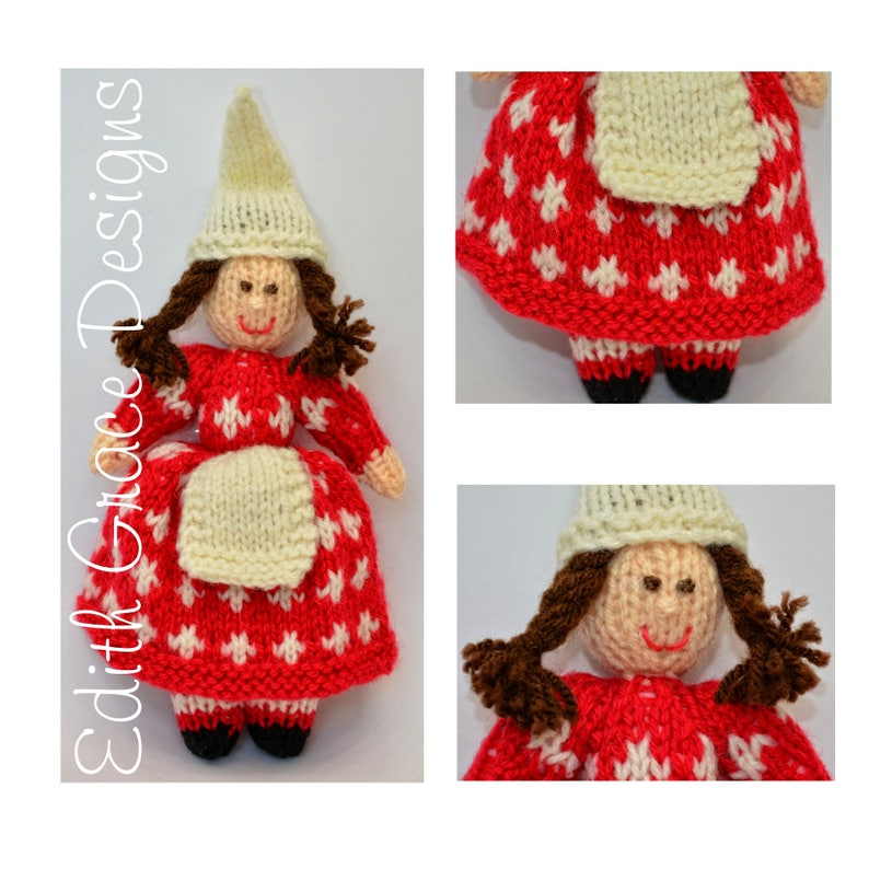 Nordic Christmas Doll Toy Knitting Pattern image 0
