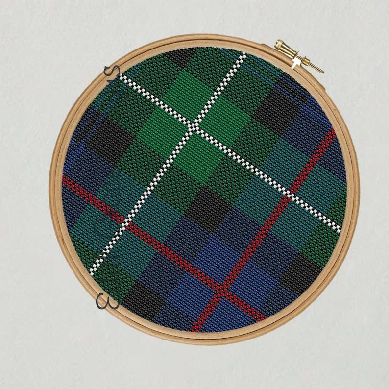 MacKenzie Tartan Cross Stitch Pattern image 1