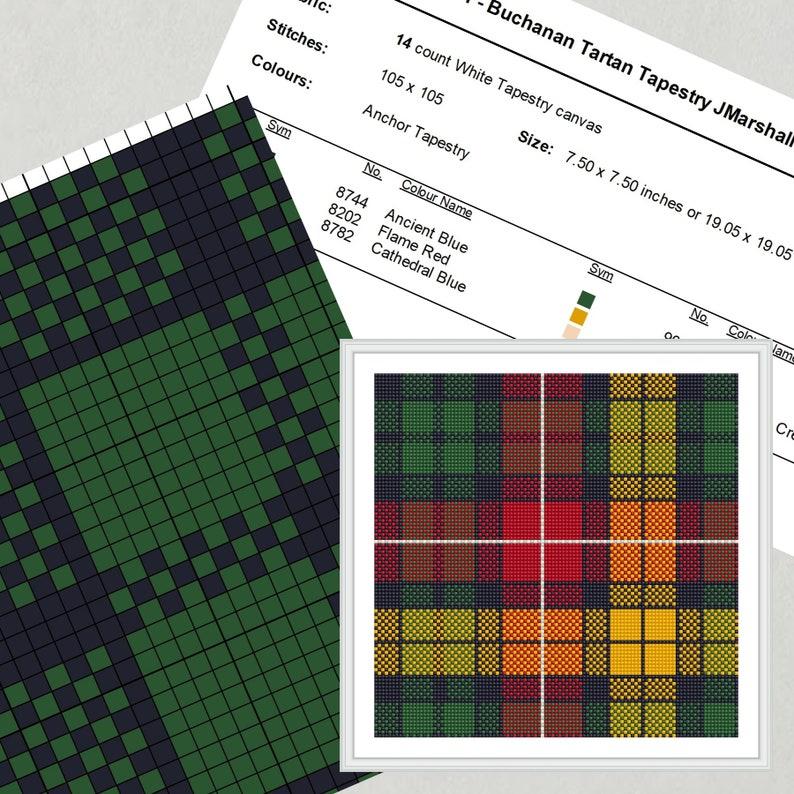 Buchanan Tartan Needlepoint Pattern