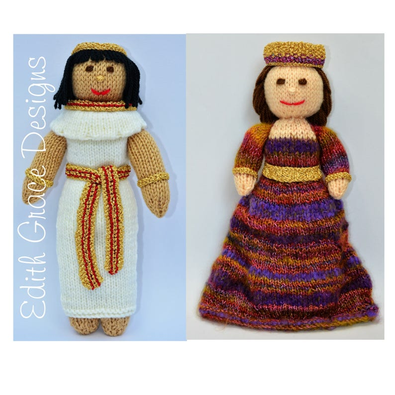 Egyptian and Byzantium Dolls Knitting Pattern image 0