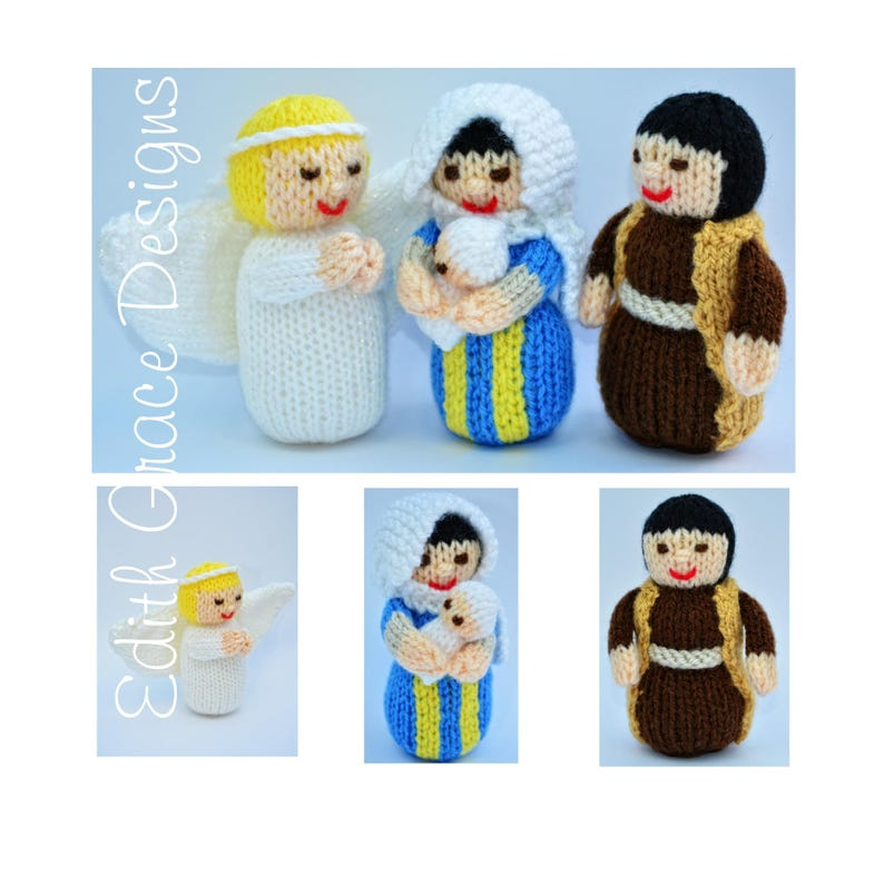 Nativity Knitted Dolls Toy Knitting Pattern image 0