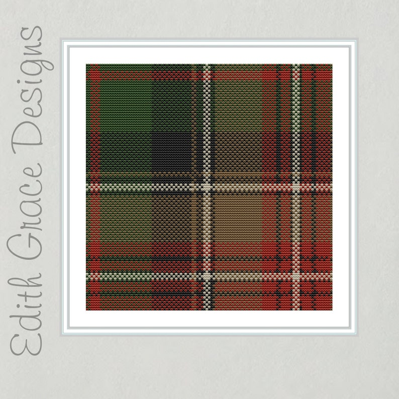 Johnson Tartan Cross Stitch Pattern image 0