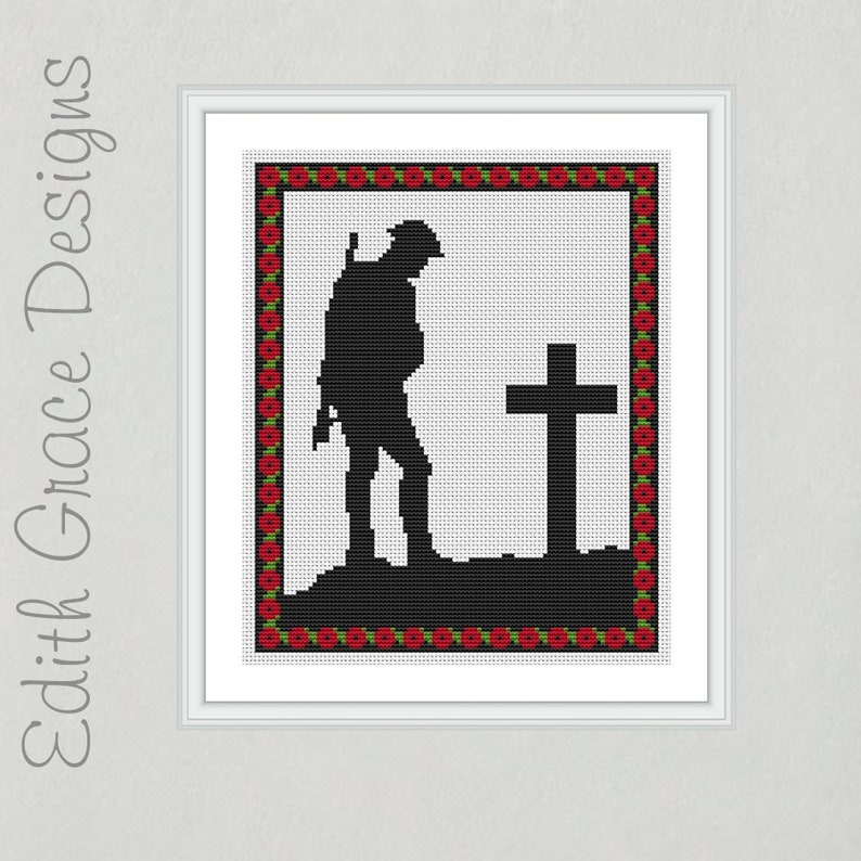 Remembrance Day Cross Stitch Pattern image 0