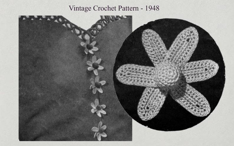 Crochet Buttons  Vintage Crochet Pattern 1948 image 0
