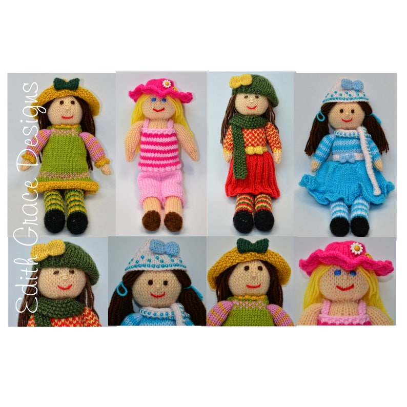 The Seasons Rag Dolls Doll Knitting Pattern image 0