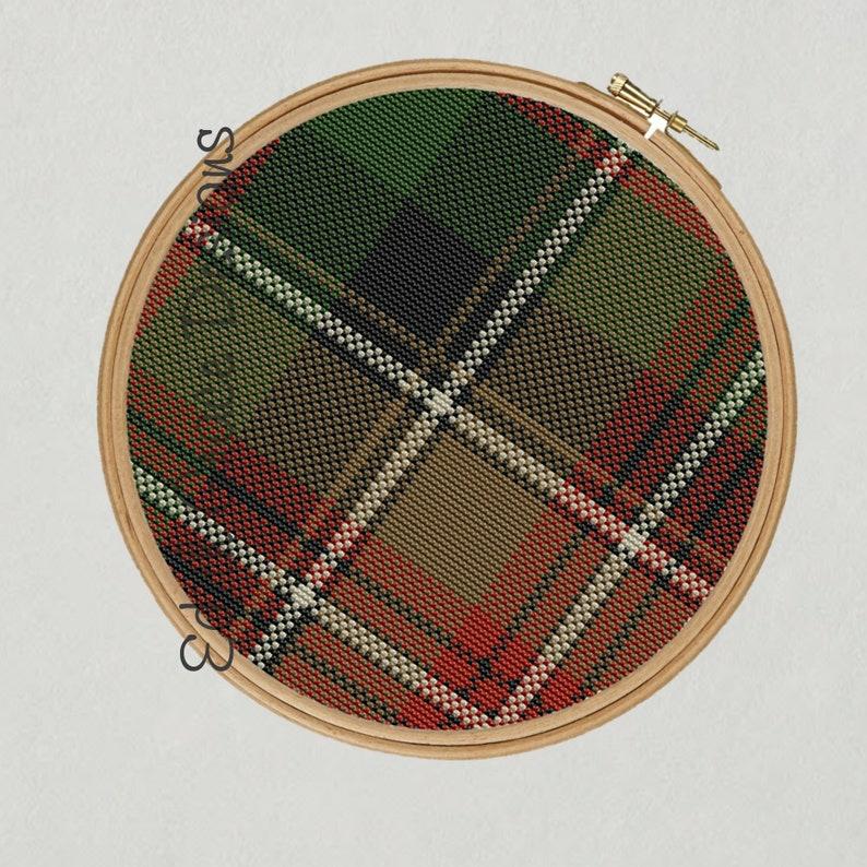 Johnson Tartan Cross Stitch Pattern image 1