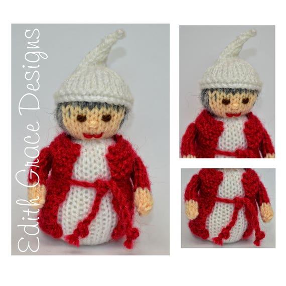 Doll Knitting Pattern Christmas Doll Ebenezer Scrooge Etsy