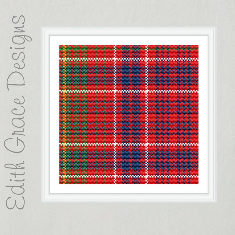 Lumsden Tartan Cross Stitch Pattern image 0