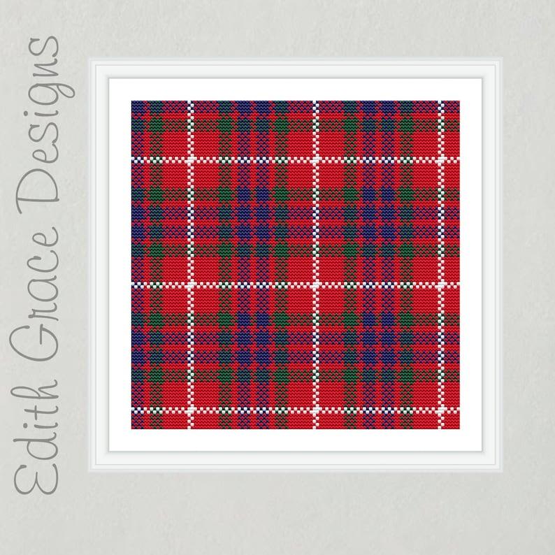 Fraser Tartan Cross Stitch Pattern image 0