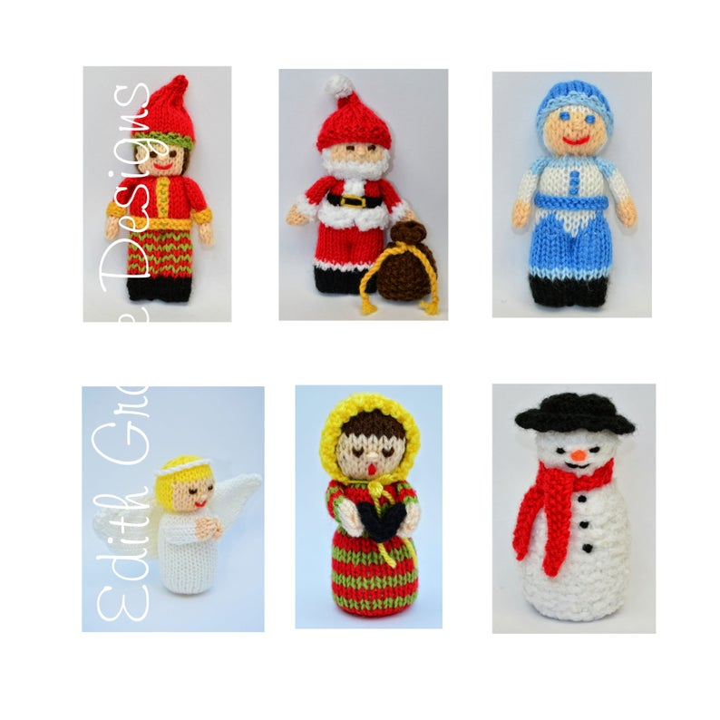 Christmas Dolls Toy Doll Knitting Pattern image 0