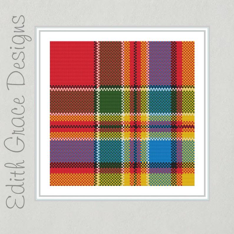Chattan Tartan Cross Stitch Pattern image 0