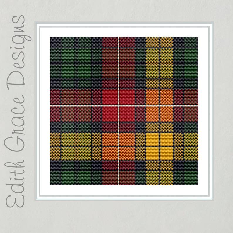 Buchanan Tartan Cross Stitch Pattern image 0
