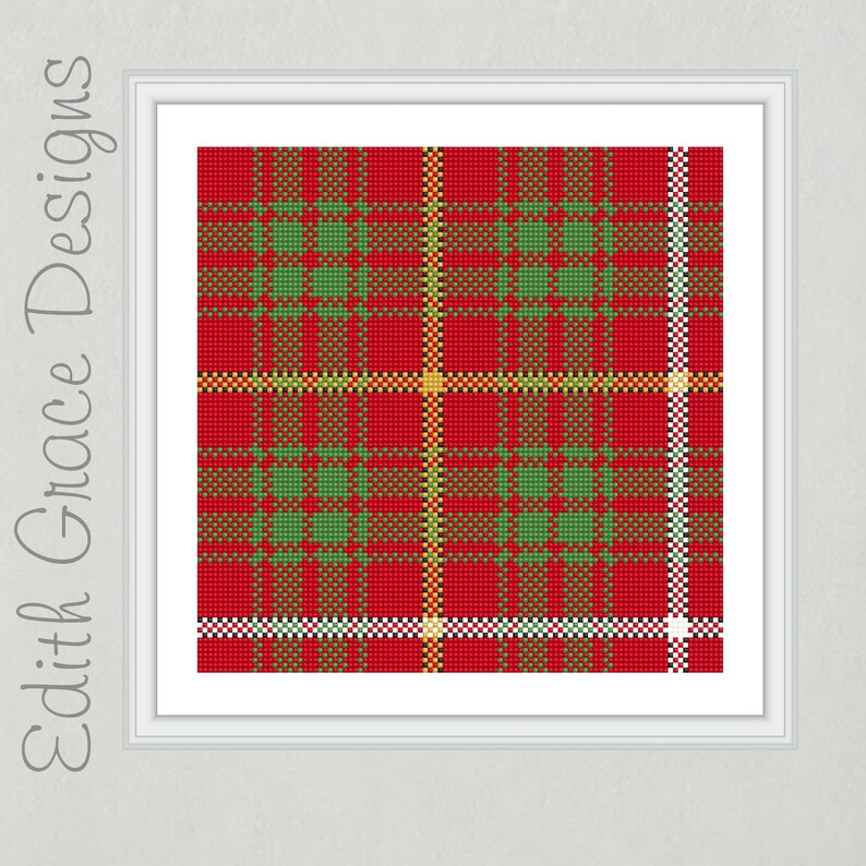 Bruce Tartan Cross Stitch Pattern image 0