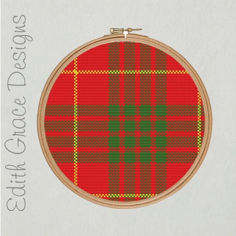 Cameron Tartan Cross Stitch Pattern image 0