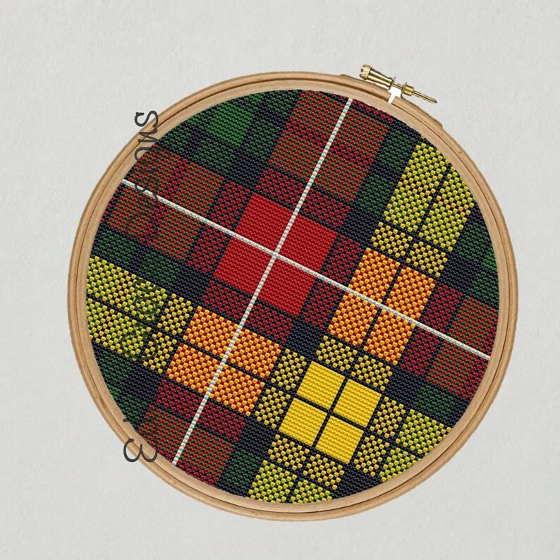 Buchanan Tartan Cross Stitch Pattern image 1