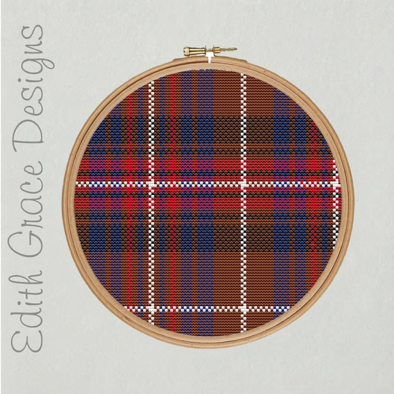 Griffiths Tartan Cross Stitch Pattern image 0