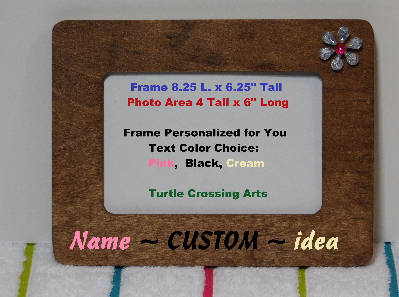 Holz Bilderrahmen Foto personalisierte Name Jahr Custom Oma | Etsy
