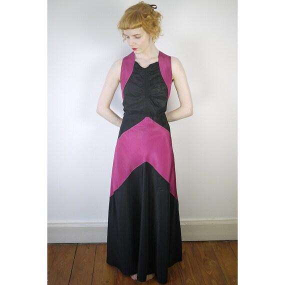 VINTAGE Original 1940s 1930s evening gown
