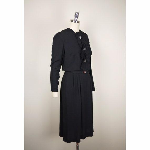 SALE UNIQUE VINTAGE 1930s 1940s gothic, pleated bl