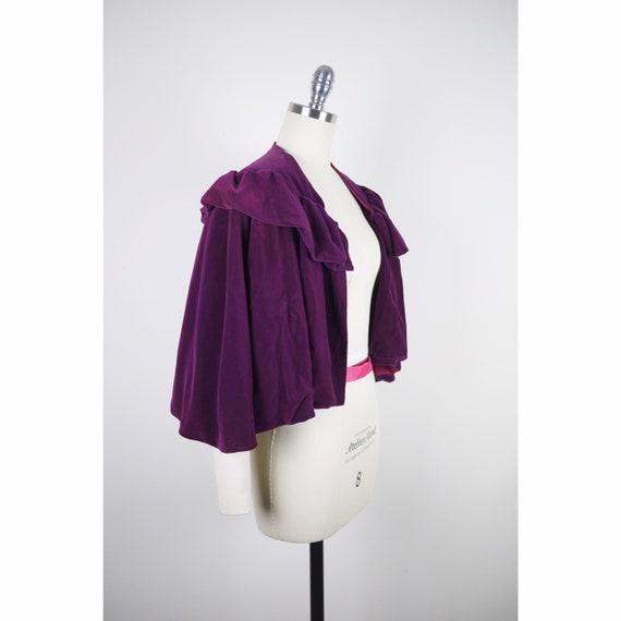 VINTAGE 1930s Velvet Cape // Cloak // Purple // Pi