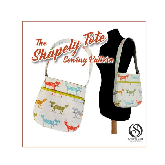 Bag sewing pattern The Shapely Tote bag. PDF purse pattern. | Etsy