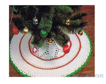 PDF Crochet Pattern Instant Download Christmas Tree Skirt Patterns - Holiday Crochet  - Festive Christmas Decor