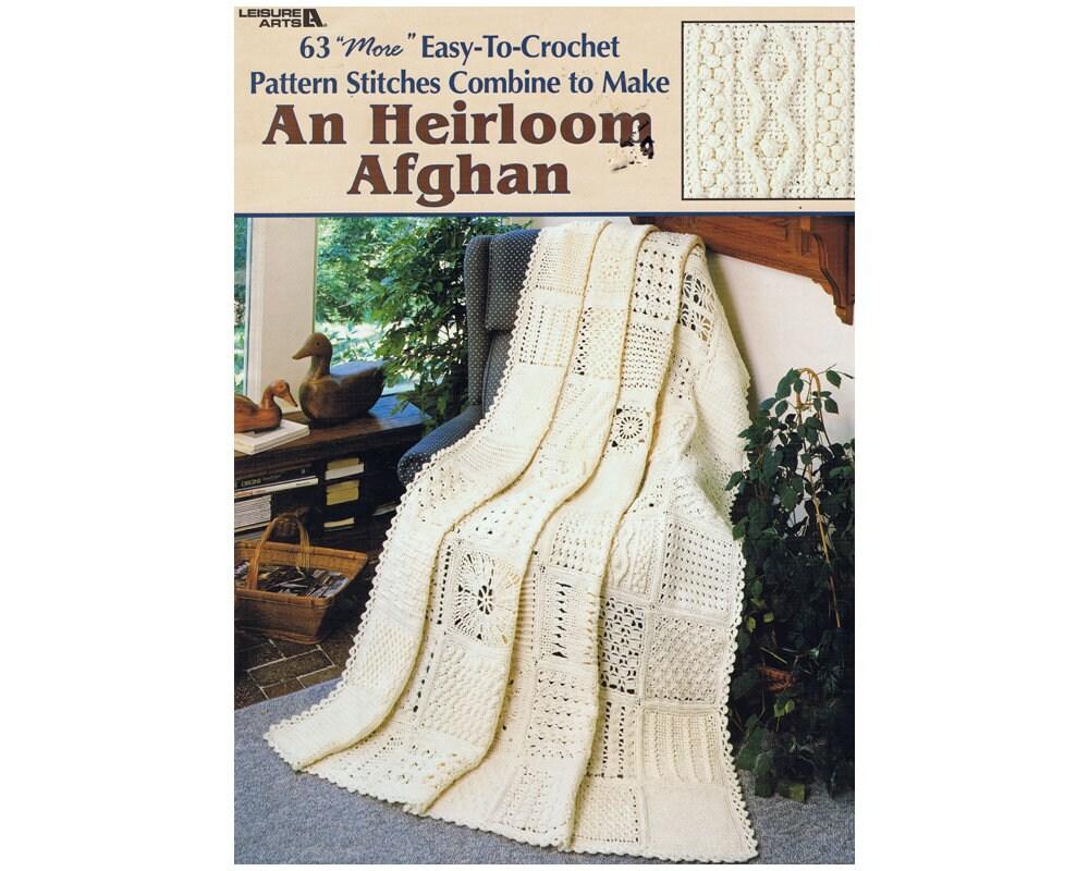Heirloom Afghan Crochet Patterns 63 Easy-To-Crochet Pattern | Etsy