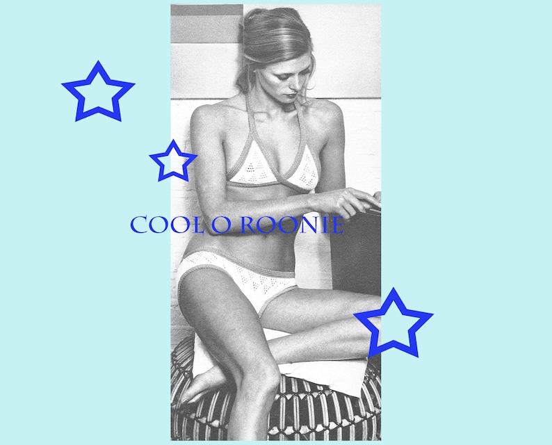 PDF Bikini Knitting Pattern Womens Lace Stitch Bikini Pattern Vintage 70/'s Summer PDF Knitting Pattern