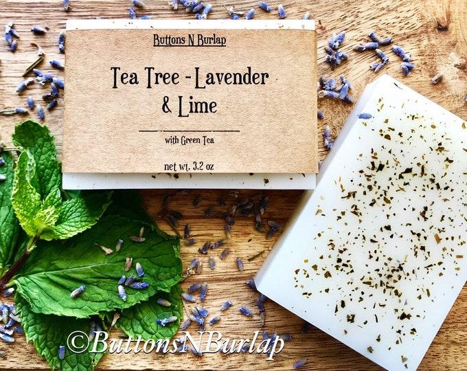 TeaTree/Lavender/Lime- Organic Goats Milk Soap